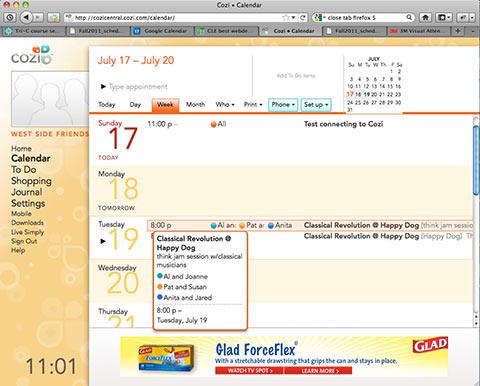 Get Organized Google Calendar Vs Cozi July 16 2011