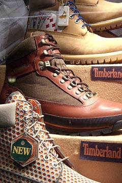 Timberland boots; lake view; films Mar. 23, 2007
