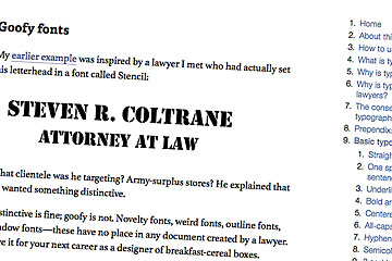 Learn Typography From A Lawyer October 13 2010